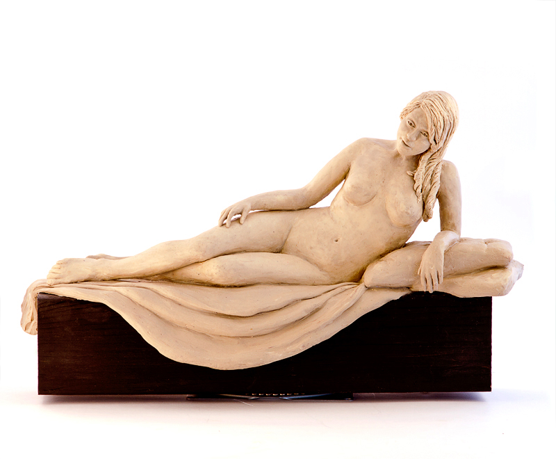 Reclining Nude - clay for bronze