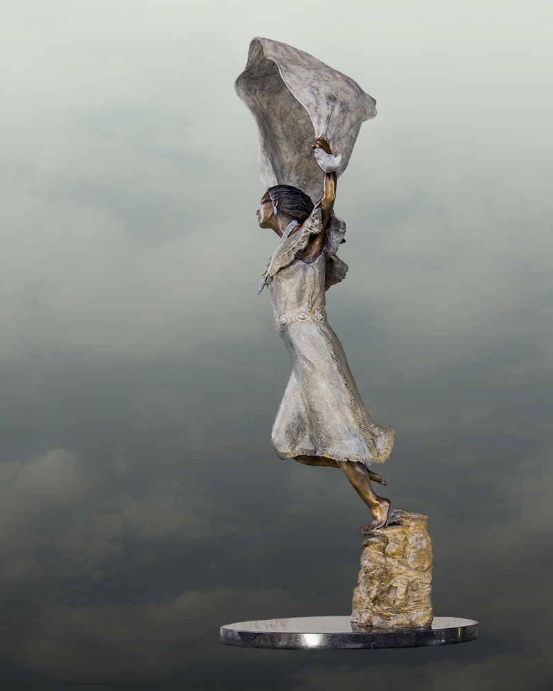 Wind Spirit bronze by Linda Ahearn
