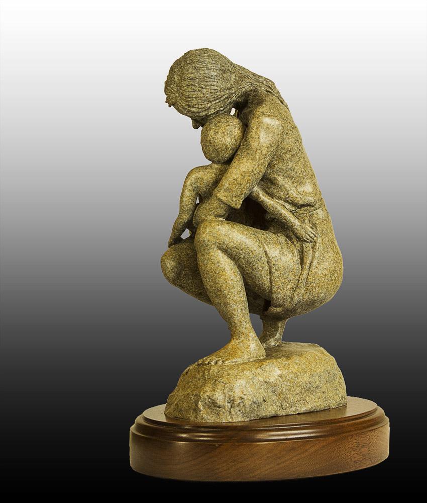 Mother's Love - bronze side