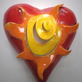 Lisa Agababian - Red Orange Yellow Sun